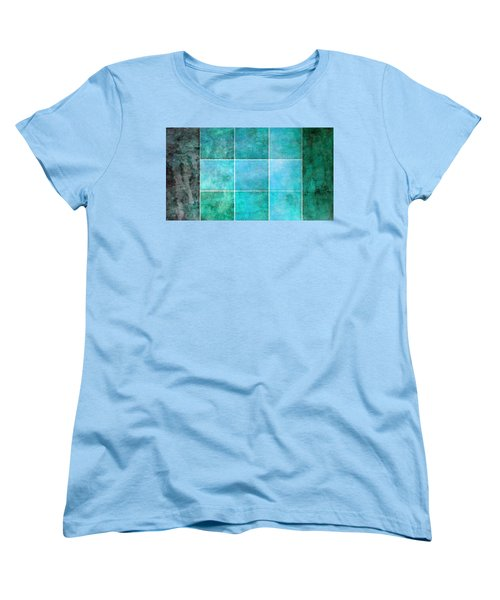 3 By 3 Ocean Women's T-Shirt (Standard Cut) by Angelina Vick