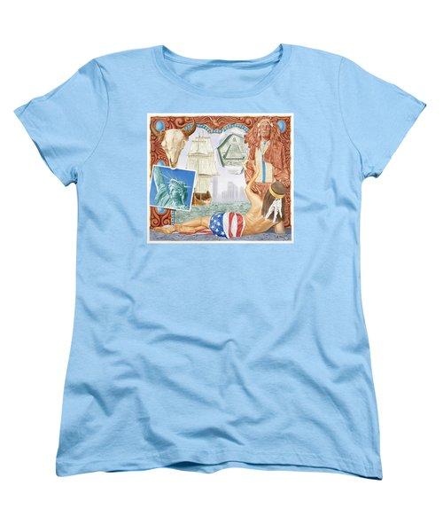 Destruction Of Native America Women's T-Shirt (Standard Cut) by Rich Milo
