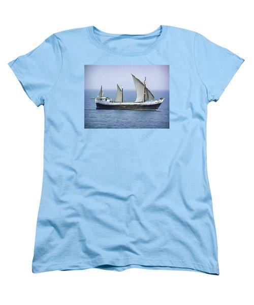Fishing Vessel In The Arabian Sea Women's T-Shirt (Standard Cut) by Ashish Agarwal