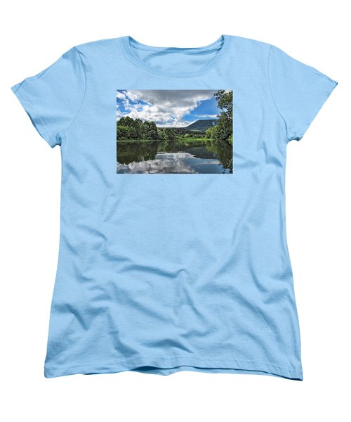 Women's T-Shirt (Standard Cut) featuring the photograph South Fork Shenandoah River by Lara Ellis