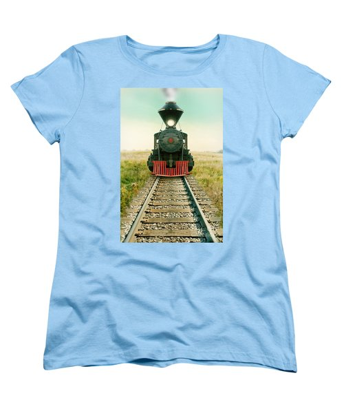 Vintage Train Engine Women's T-Shirt (Standard Cut) by Jill Battaglia