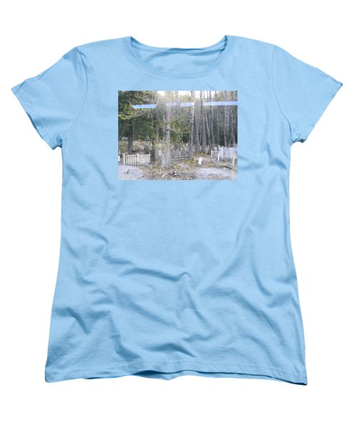 Women's T-Shirt (Standard Cut) featuring the photograph 300yr Cemetery by Brian Williamson