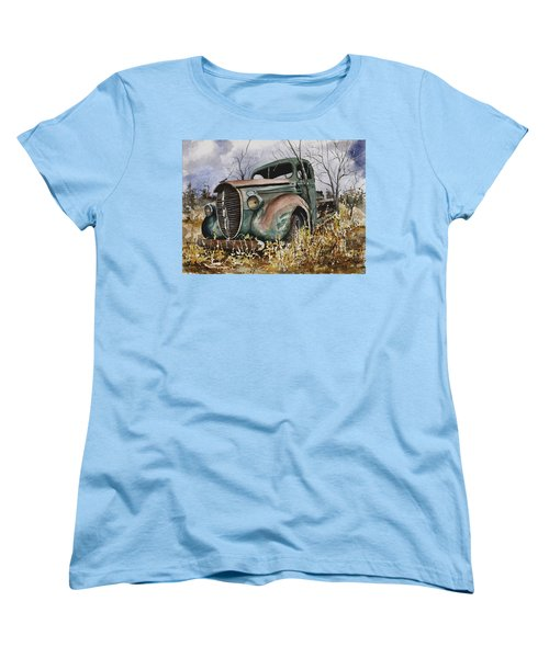 39 Ford Truck Women's T-Shirt (Standard Cut) by Sam Sidders