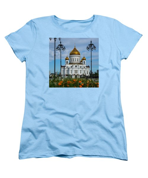 Cathedral Of Christ The Savior Of Moscow - Russia - Featured 3 Women's T-Shirt (Standard Cut) by Alexander Senin