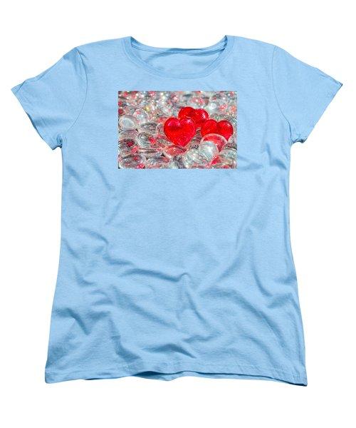 Crystal Heart Women's T-Shirt (Standard Cut) by Peter Lakomy