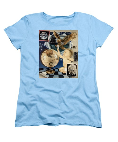 Discovery Of The New World Women's T-Shirt (Standard Cut) by Rich Milo