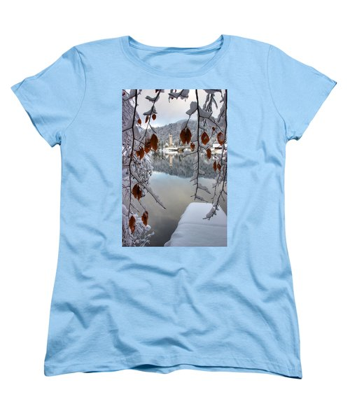 Lake Bohinj In Winter Women's T-Shirt (Standard Cut)