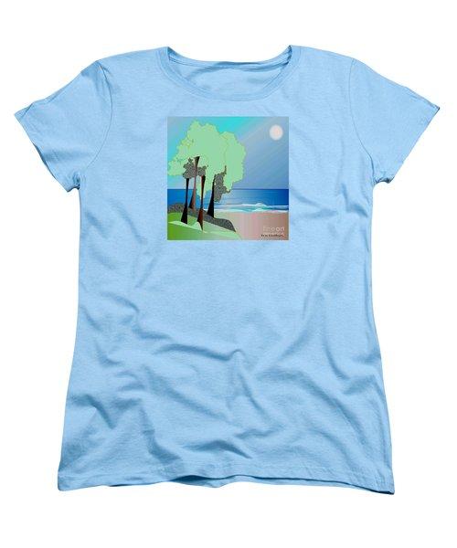 Women's T-Shirt (Standard Cut) featuring the digital art My Special Island by Iris Gelbart