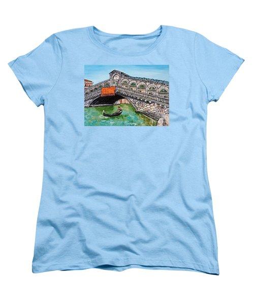 Ponte Di Rialto Women's T-Shirt (Standard Cut) by Loredana Messina