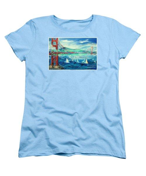 San Francisco Golden Gate Bridge Women's T-Shirt (Standard Cut) by Eric  Schiabor