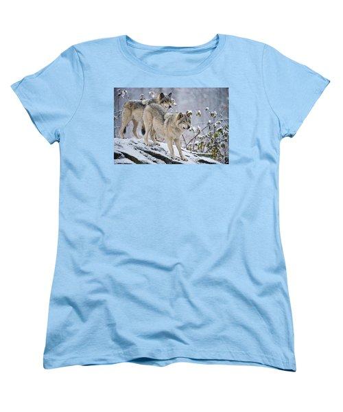 Timber Wolves Women's T-Shirt (Standard Cut) by Michael Cummings