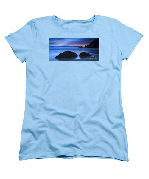 Women's T-Shirt (Standard Cut) featuring the photograph Campelo Beach Galicia Spain by Pablo Avanzini