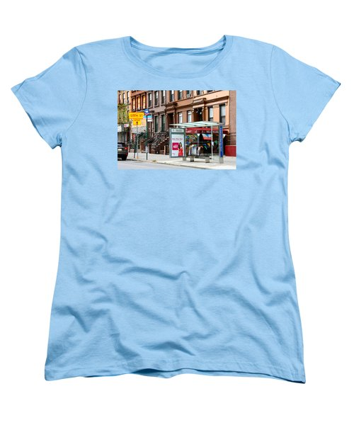 5th Ave And West 132nd Street Women's T-Shirt (Standard Cut) by Terry Wallace
