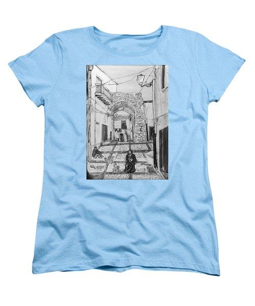 Women's T-Shirt (Standard Cut) featuring the painting Sutera Rabato Antico by Loredana Messina