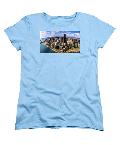 Chicago Il Women's T-Shirt (Standard Cut) by Panoramic Images