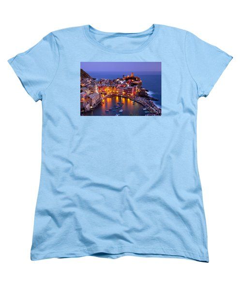 Cinque Terre Women's T-Shirt (Standard Cut) by Brian Jannsen