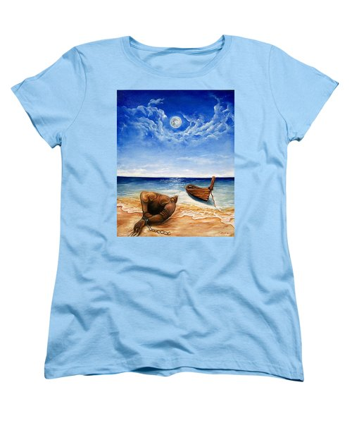 Women's T-Shirt (Standard Cut) featuring the painting Home by Emery Franklin