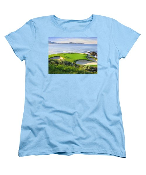 7th Hole At Pebble Beach Women's T-Shirt (Standard Cut)
