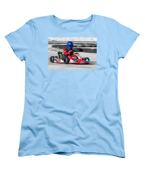 Racing Go Kart Women's T-Shirt (Standard Cut) by Gunter Nezhoda