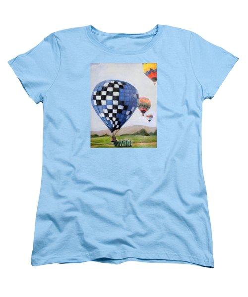 A Balloon Disaster Women's T-Shirt (Standard Cut) by Donna Tucker