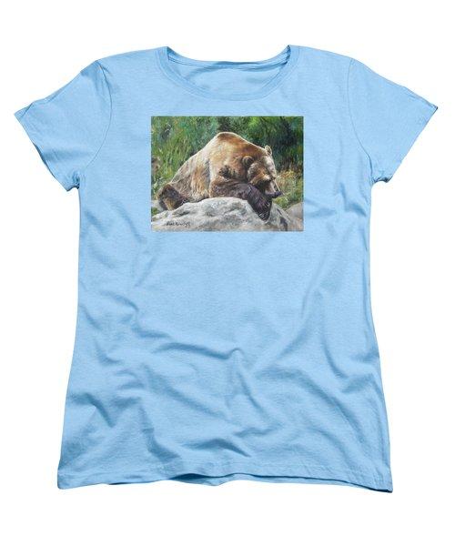Women's T-Shirt (Standard Cut) featuring the painting A Bear Of A Prayer by Lori Brackett