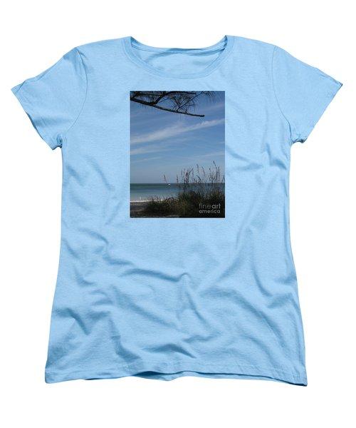 A Beautiful Day At A Florida Beach Women's T-Shirt (Standard Cut) by Christiane Schulze Art And Photography