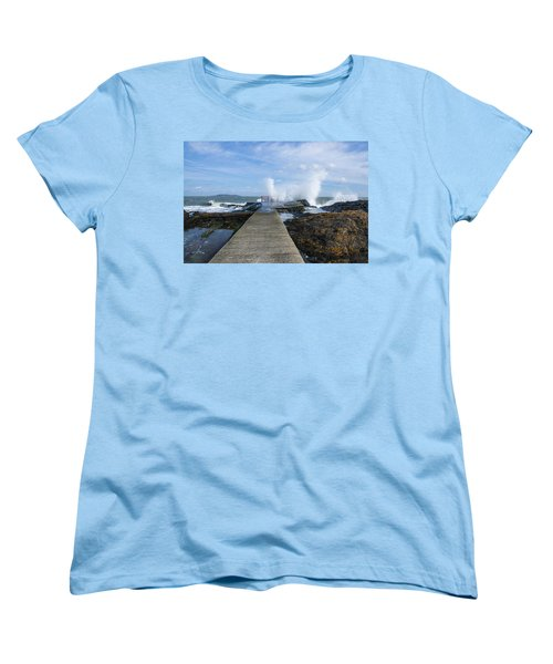 A Blustery Day At High Rock Women's T-Shirt (Standard Cut) by Martina Fagan