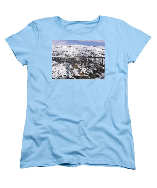 Women's T-Shirt (Standard Cut) featuring the photograph A Bridge In Alaska by Brian Williamson
