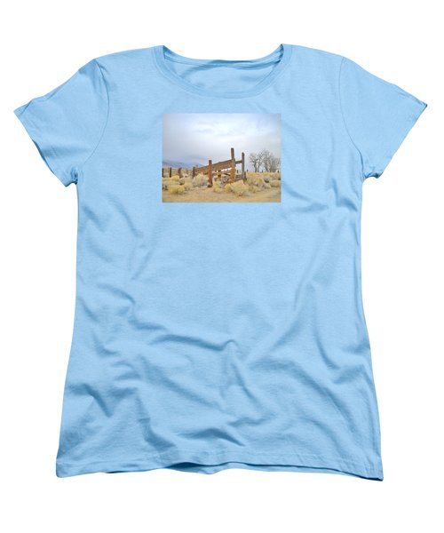 Women's T-Shirt (Standard Cut) featuring the photograph A Cowboys Echo by Marilyn Diaz