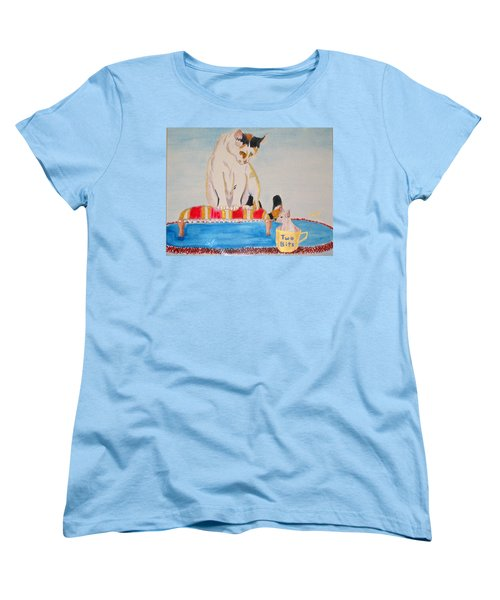 Women's T-Shirt (Standard Cut) featuring the painting A Cup Of Chihuahua by Phyllis Kaltenbach
