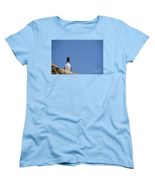 A Curious Bird Women's T-Shirt (Standard Cut) by Anne Gilbert
