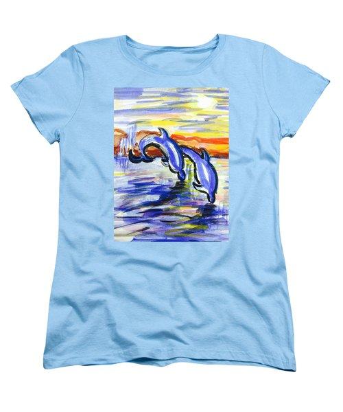 A Day At The Beach 4 Women's T-Shirt (Standard Cut) by Hae Kim