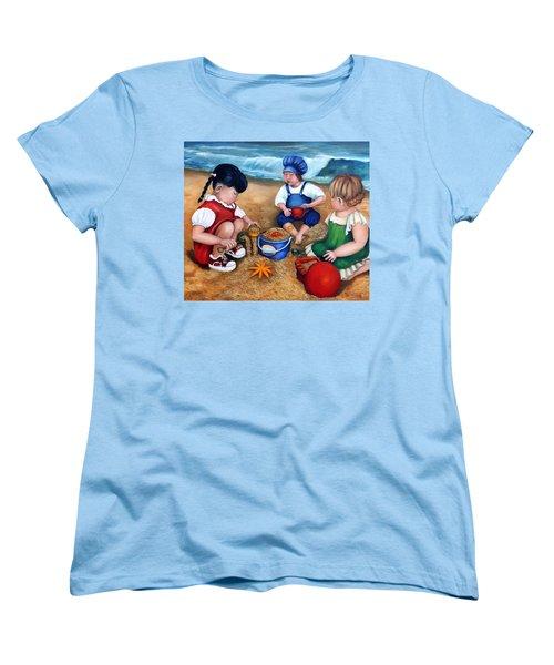 A Day At The Beach  Women's T-Shirt (Standard Cut) by Enzie Shahmiri
