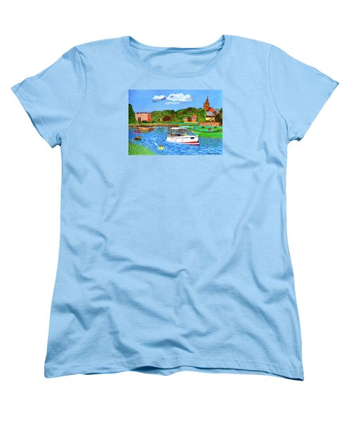 A Day On The River Women's T-Shirt (Standard Cut) by Magdalena Frohnsdorff