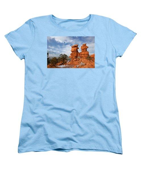 Women's T-Shirt (Standard Cut) featuring the photograph A December Morning by Ronda Kimbrow