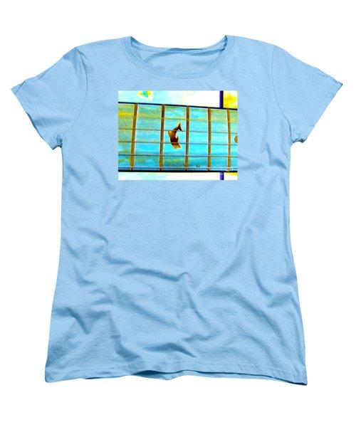 Women's T-Shirt (Standard Cut) featuring the photograph A Dolphin On A Guitar Ocean by Roberto Gagliardi