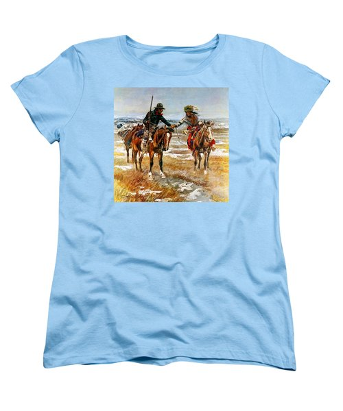 A Doubtful Handshake Women's T-Shirt (Standard Cut)