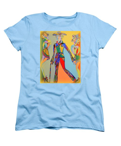 Women's T-Shirt (Standard Cut) featuring the painting Men's Fantasy by Marie Schwarzer