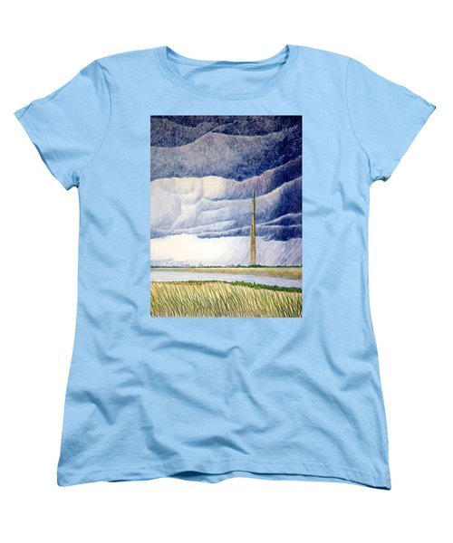 Women's T-Shirt (Standard Cut) featuring the painting A Finger To The Sky by A  Robert Malcom