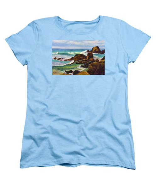 Women's T-Shirt (Standard Cut) featuring the painting A Frouxeira Galicia by Pablo Avanzini