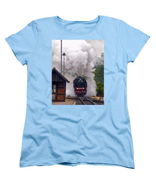 A Full Head Of Steam Women's T-Shirt (Standard Cut) by Michael Pickett