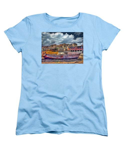 A Genesis Sunrise Over The Old City Women's T-Shirt (Standard Cut) by Ronsho
