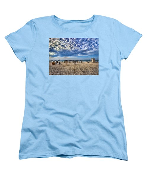 a good morning from Jerusalem beach  Women's T-Shirt (Standard Cut) by Ron Shoshani