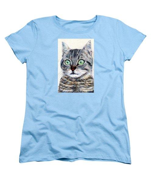 A Grey Tabby Women's T-Shirt (Standard Cut) by Jingfen Hwu