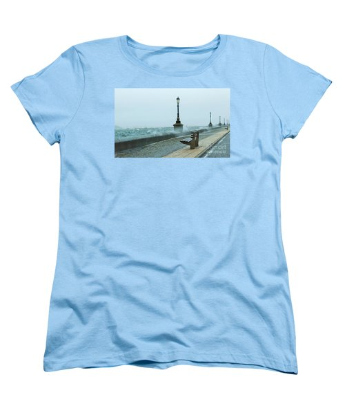 A Grey Wet Day By The Sea Women's T-Shirt (Standard Cut) by Katy Mei
