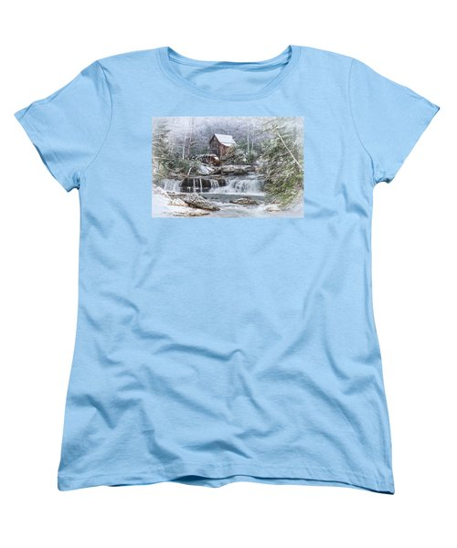 A Gristmill Christmas Women's T-Shirt (Standard Cut) by Mary Almond