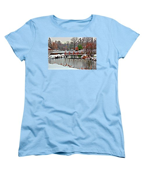 Women's T-Shirt (Standard Cut) featuring the photograph A Light Dusting Of Snow by Judy Palkimas