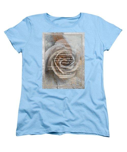 Women's T-Shirt (Standard Cut) featuring the photograph A Love Poem And Photograph by Brooks Garten Hauschild