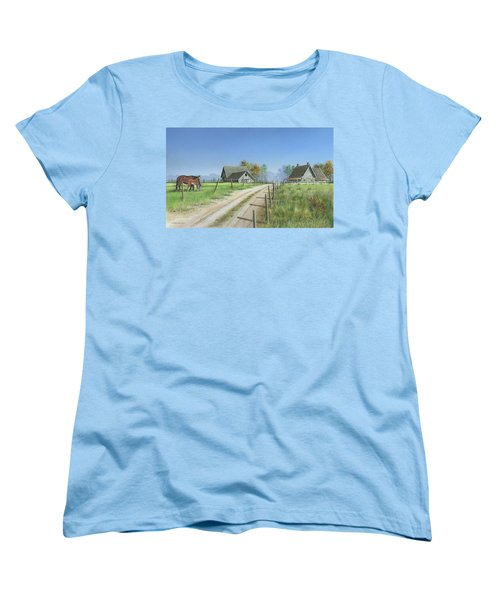 Women's T-Shirt (Standard Cut) featuring the painting A New Beginning by Mike Brown