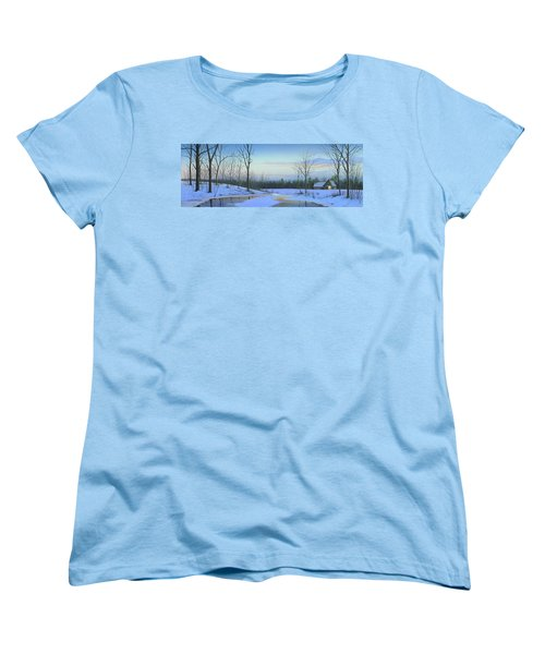 Women's T-Shirt (Standard Cut) featuring the painting A New Dawn by Mike Brown